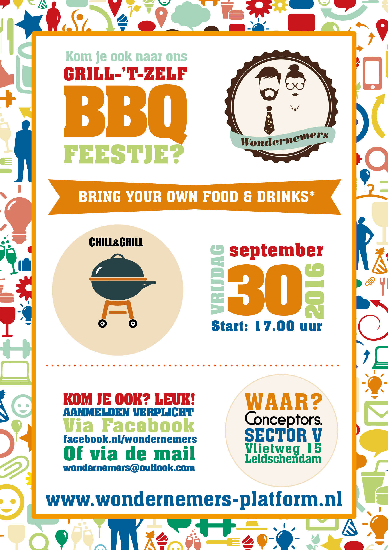 Wondernemers barbecue flyer facebook
