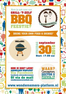 Ondernemers barbecue